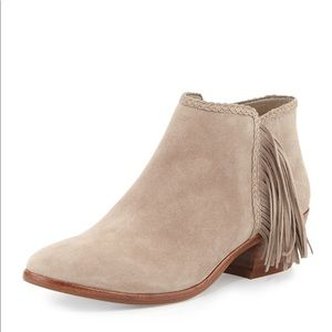 SE Paige Booties suede leather fringe